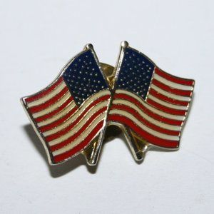 Vintage double flag pin
